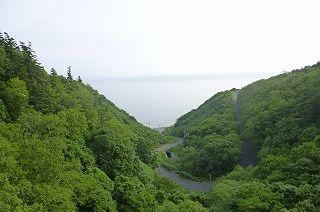 【利尻島 サイクリングロードからの眺め】
