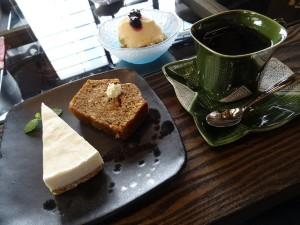 【デザートのケーキセット】