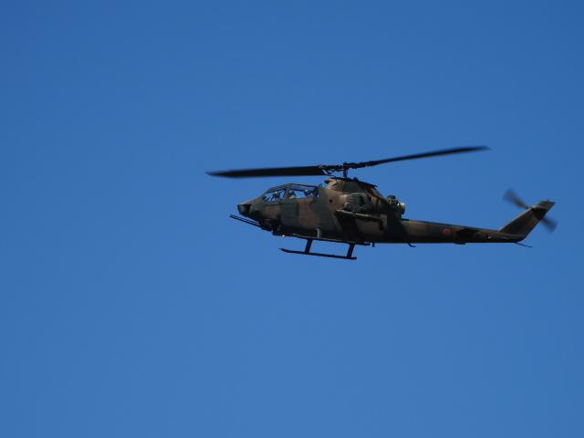 ヘリの展示飛行